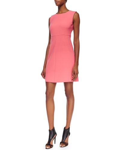 Carrie Sleeveless Crepe A-Line Dress