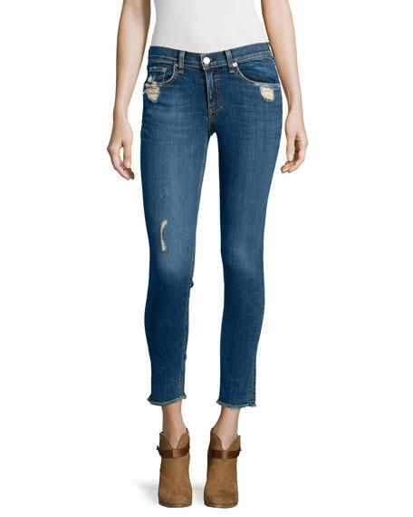 rag & bone/JEAN Destroyed Dark Skinny Jeans, La