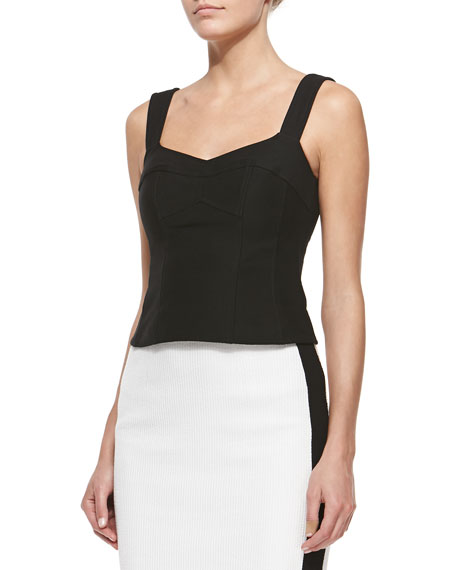 Nanette Lepore Tempter Corset Top with Sweetheart Neckline,