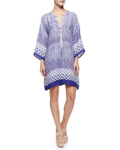 Roman Tiles Tunic Dress, Petite