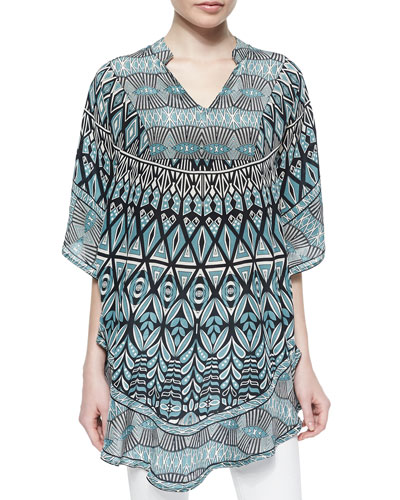 Belle Printed Long Tunic, Belle