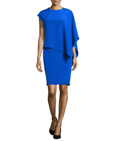 One-Shoulder Caftan Sheath Dress