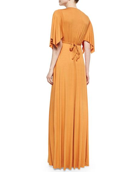 Solid Maxi Caftan Dress, Women's