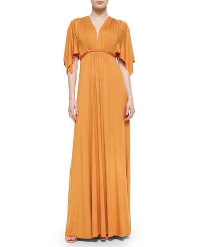Solid Maxi Caftan Dress