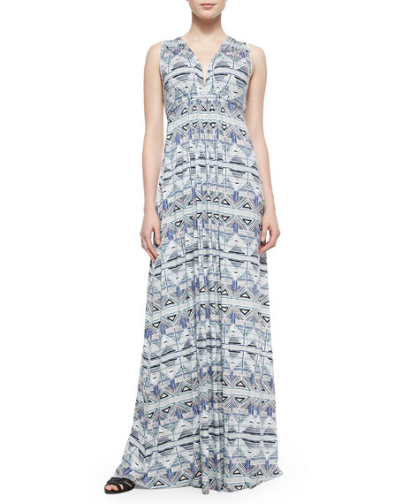 Rachel Pally Stencil-Print Caftan Long Dress