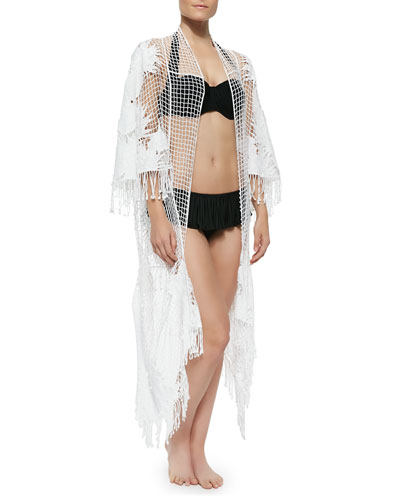 Moonshine Netted Fringe-Trim Coverup