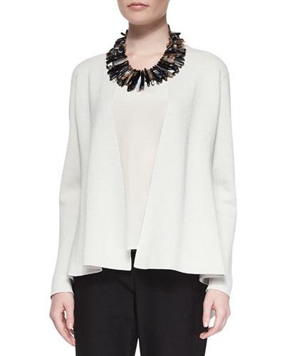 Silk Organic Cotton Interlock Shaped Jacket