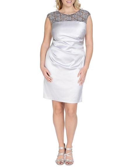 Kay Unger New York Women's Beaded-Mesh Ruched Cocktail Dress, Women's