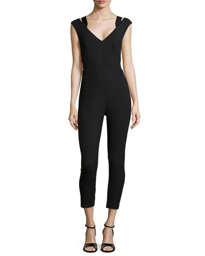 Sleeveless Jumpsuit with Cutout Back