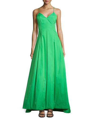 Sleeveless Long Dress with Cutout Back