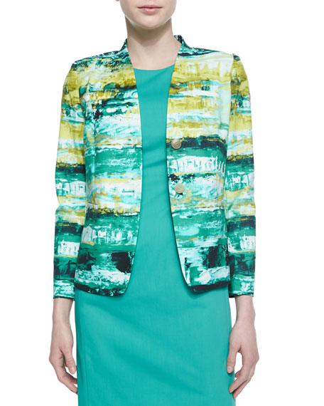 Lafayette 148 New York Lilith 2-Button Printed Jacket