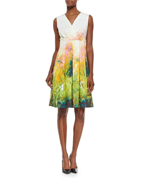 Lafayette 148 New York Junette Abstract Floral-Print Dress