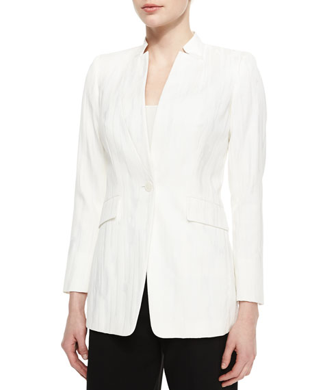 Lafayette 148 New York Kamala One-Button Woven Jacket