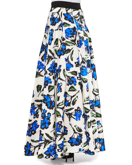 Floral-Print Ball Skirt