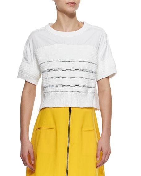 Risto Adria Short-Sleeve Handknit T-Shirt