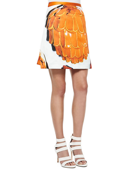 Risto Doppio Printed A-Line Skirt