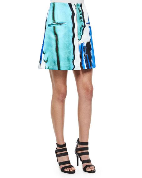 Risto Doppio Front-Zip A-Line Skirt