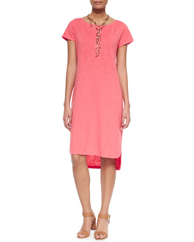 Short-Sleeve Hemp Twist Dress