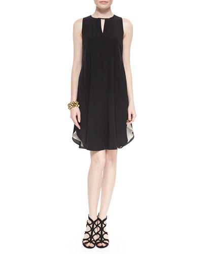 Sleeveless Double-Layer Silk Dress