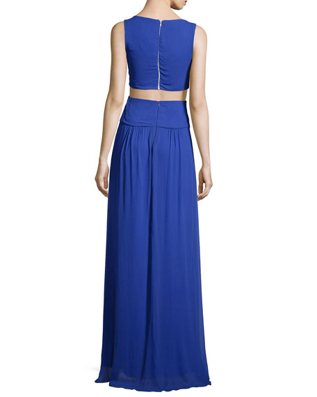 Sleeveless Cutout Grecian Gown