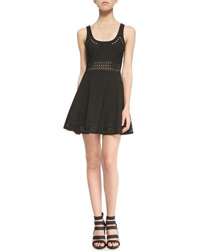 Kenton Sleeveless Cutout A-Line Dress