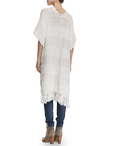 Elizabeth and James Maverick Short-Sleeve Long Cardigan