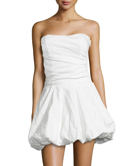 Nicole Miller Strapless Sweetheart Bubble Dress