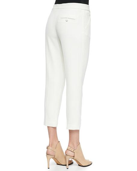 Haute Hippie Pleated Straight-Leg Capri Pants
