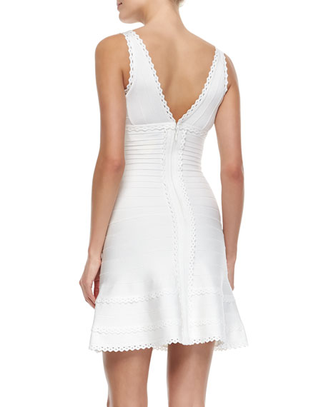 Scalloped Lace A-Line Dress