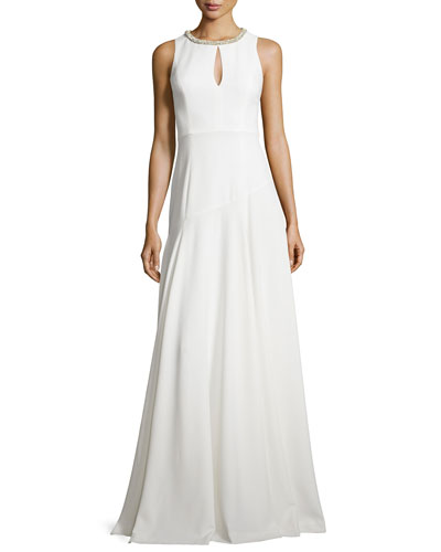 Blakely Keyhole Gown, Pearl