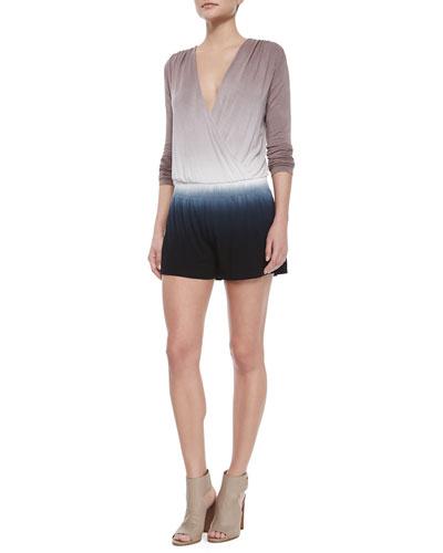 Ombre Long-Sleeve Jumpsuit