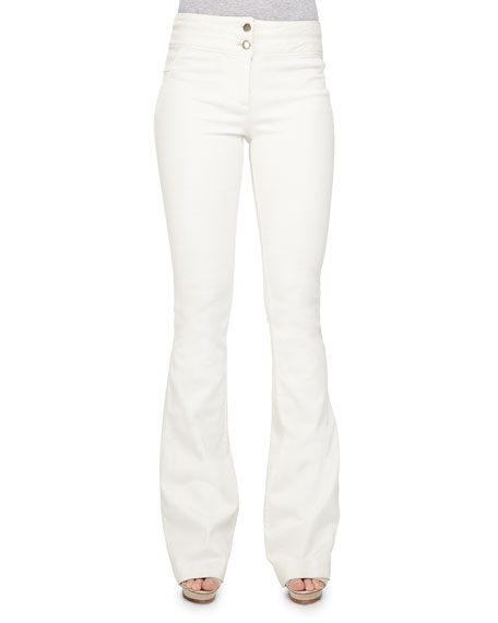 Veronica Beard Full-Length Flared Denim Pants