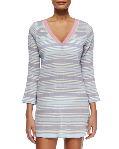 Kirshna Striped Voile Tunic