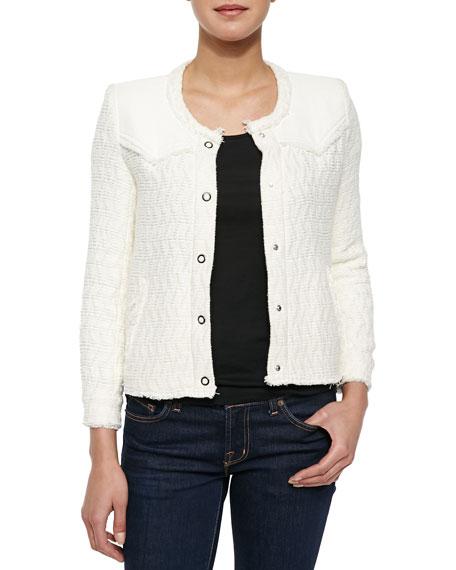 IRO Halston Textured Woven Jacket, Ecru