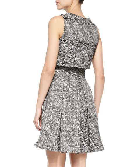 Layered A-Line Patterned Dress