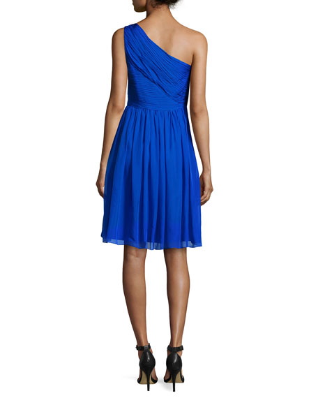 One-Shoulder Chiffon Cocktail Dress