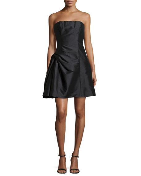 Strapless Cocktail Dress with Pickup Skirt