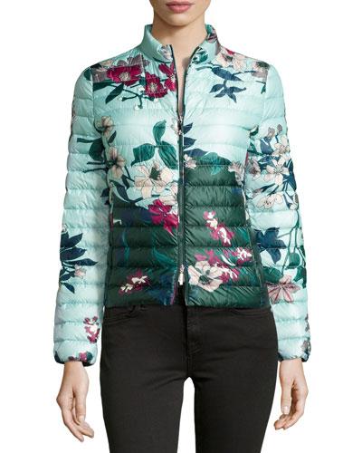 Heudelet Floral-Print Puffer Jacket