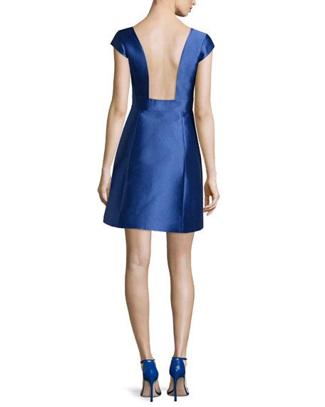 kate spade new york backless silk mini dress