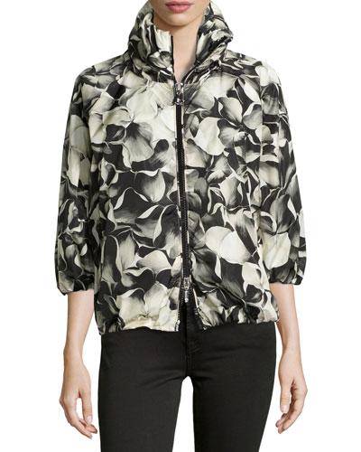 Teulie Hooded Floral Jacket