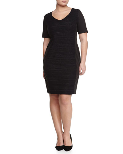 Dono Stretch Curvy Woven-Front Dress, Women's