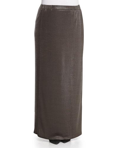 Metallic Jersey Long Skirt, Women's
