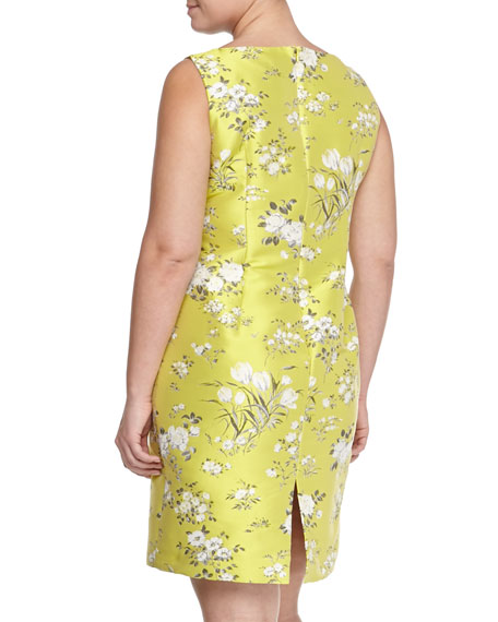 Effigie Floral Jacquard Sheath Dress, Women's