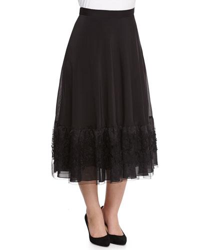 Cava Silk Organza Skirt, Women's