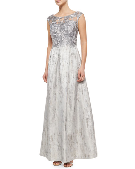 Kay Unger New YorkLace-Bodice Ball Gown