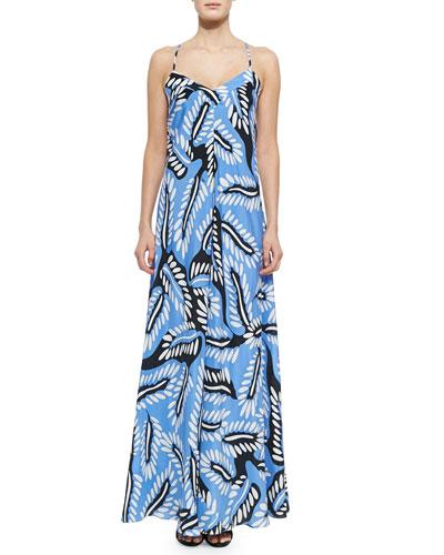 Riviera Bud-Print Maxi Dress