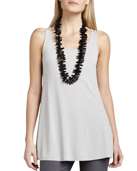 Eileen Fisher Long Silk Jersey Tank, Petite