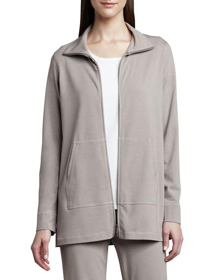 Eileen Fisher Organic Cotton Zip Jacket
