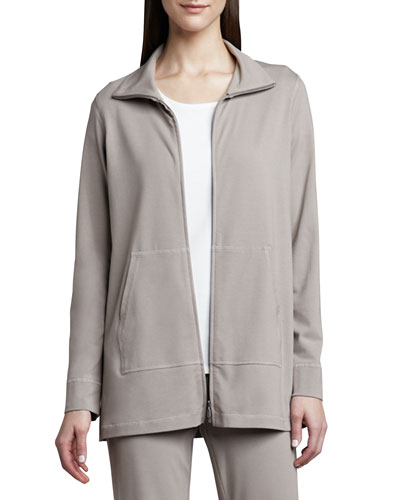 Organic Cotton Zip Jacket, Petite