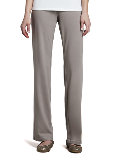 Organic Cotton Jersey Pants, Petite